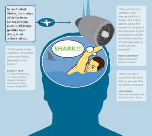 shark attacks and cognitive bias